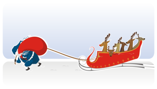 santa-pulling
